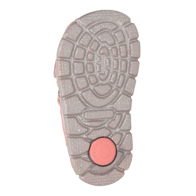 Dívčí kožené sandály s potiskem mini-b, růžová, 166-5604 - 19
