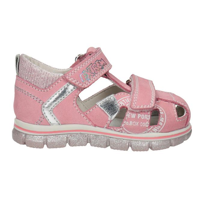 Dívčí kožené sandály s potiskem mini-b, růžová, 166-5604 - 16