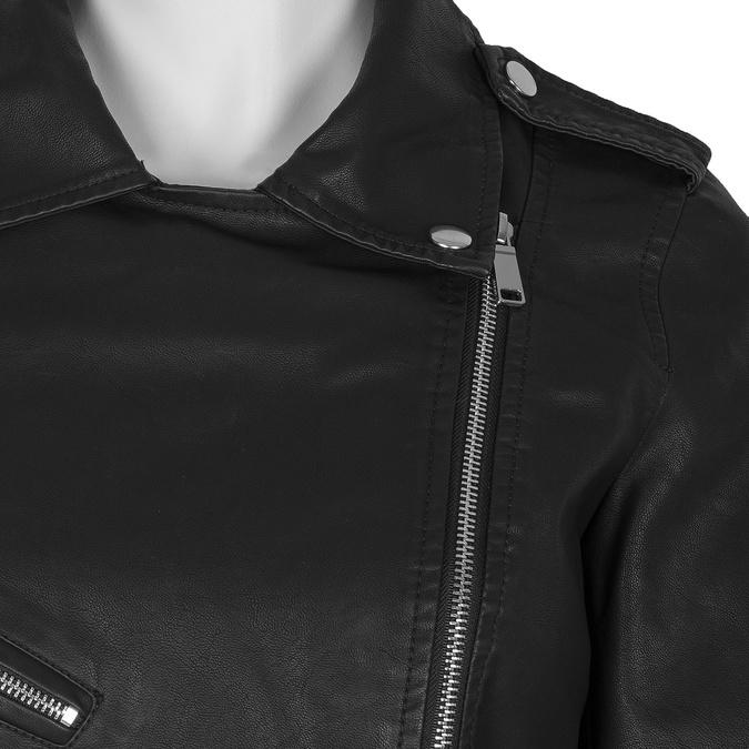 Koženková bunda v motorkářském stylu bata, černá, 971-6210 - 16