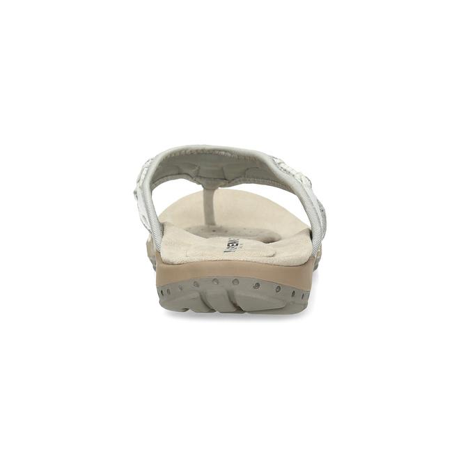 Dámské bílé kožené žabky weinbrenner, bílá, 566-1611 - 15