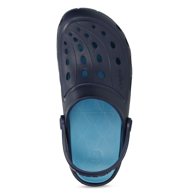 Modré dětské sandály typu Clogs coqui, modrá, 372-9656 - 17