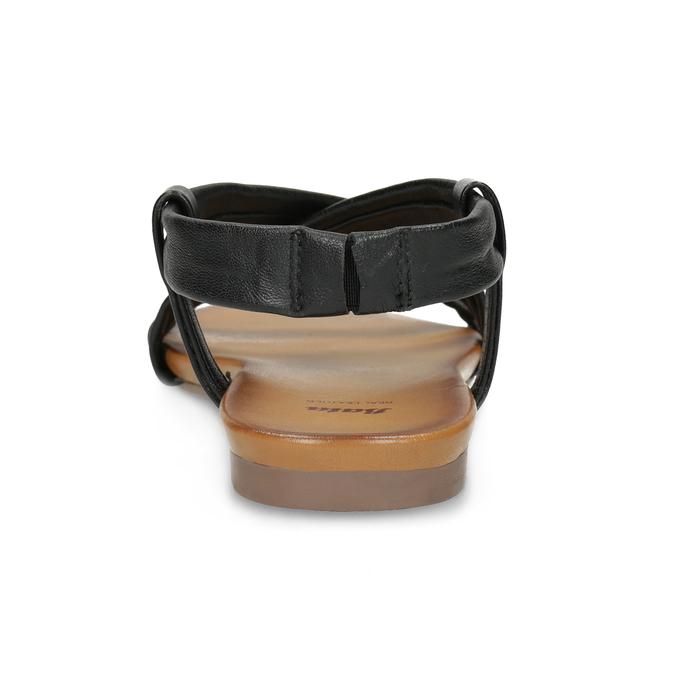 Černé kožené sandály dámské bata, černá, 566-6635 - 15