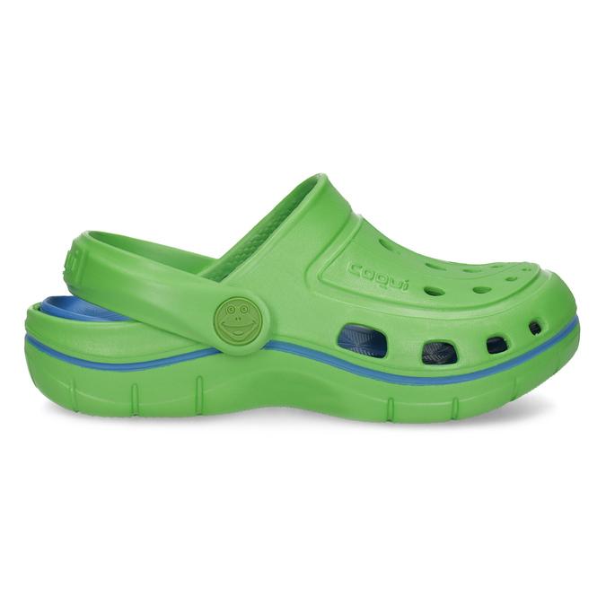 Zelené dětské sandály typu Clogs coqui, zelená, 372-7656 - 19