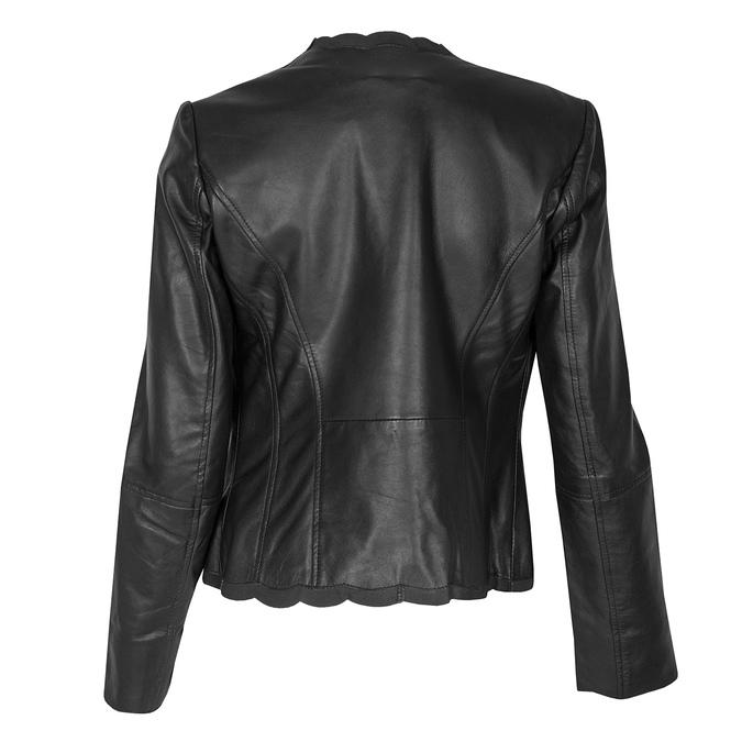 Kožené dámské sako černé bata, černá, 974-6179 - 26