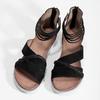 Kožené sandály s pásky kolem kotníku bata, černá, 566-6646 - 16