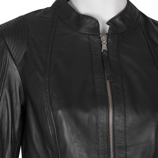 Černá kožená bunda dámská bata, černá, 974-6180 - 16