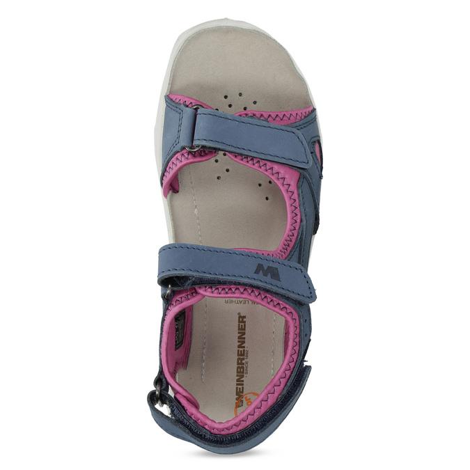 Dívčí sandály v Outdoor stylu weinbrenner, modrá, 466-9606 - 17