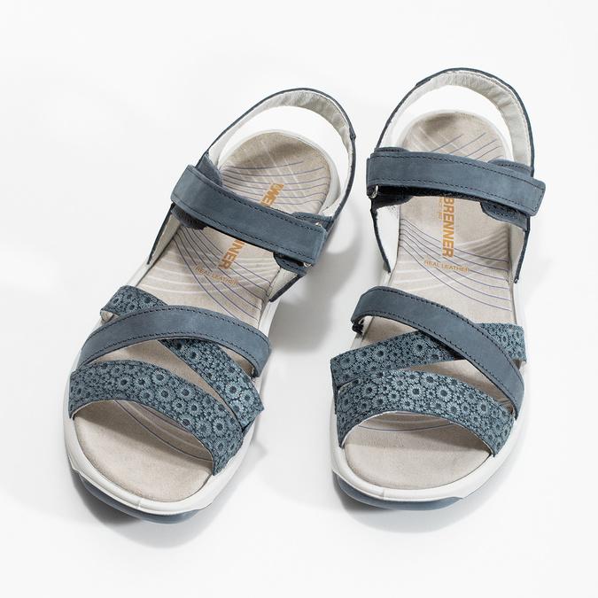 Kožené sandály v Outdoor stylu modré weinbrenner, modrá, 566-9634 - 16