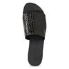Kožené nazouváky s pleteným vzorem vagabond, černá, 564-6023 - 17