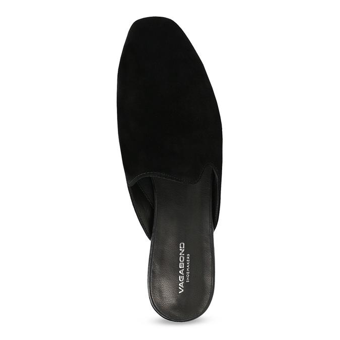 Pantofle z broušené kůže černé vagabond, černá, 573-6004 - 17