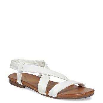 Bílé kožené sandály dámské bata, bílá, 566-1635 - 13