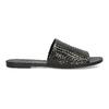 Kožené nazouváky s pleteným vzorem vagabond, černá, 564-6023 - 19