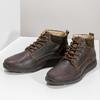 Pánská kožená kotníková obuv s prošitím bata, hnědá, 846-4645 - 16