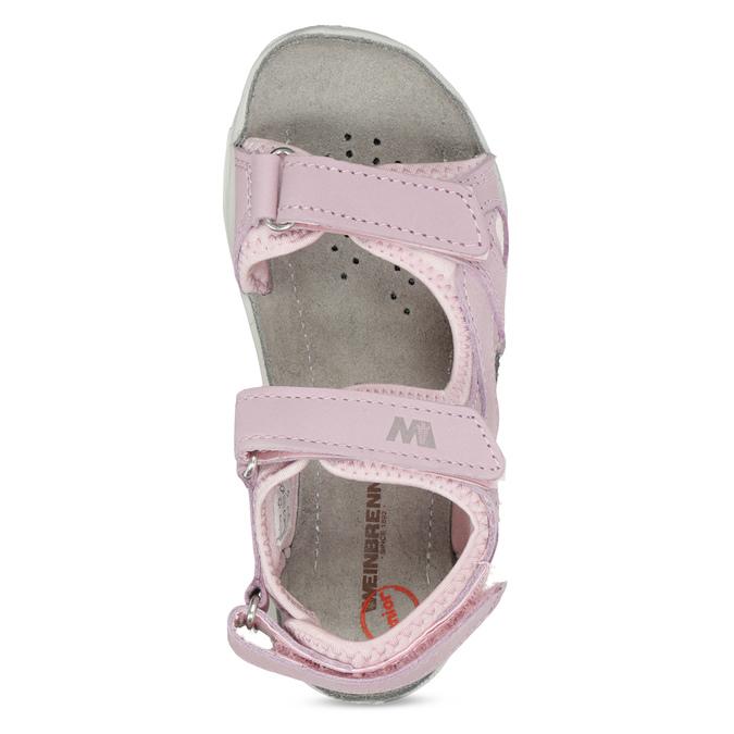 Dívčí kožené sandály v Outdoor stylu weinbrenner, růžová, 366-5606 - 17