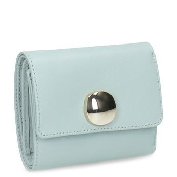Modrá kožená peněženka se zlatým zapínáním vagabond, modrá, 966-9063 - 13