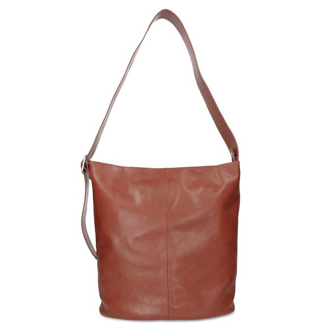 Kožená kabelka se širokým popruhem hnědá vagabond, hnědá, 966-4066 - 26
