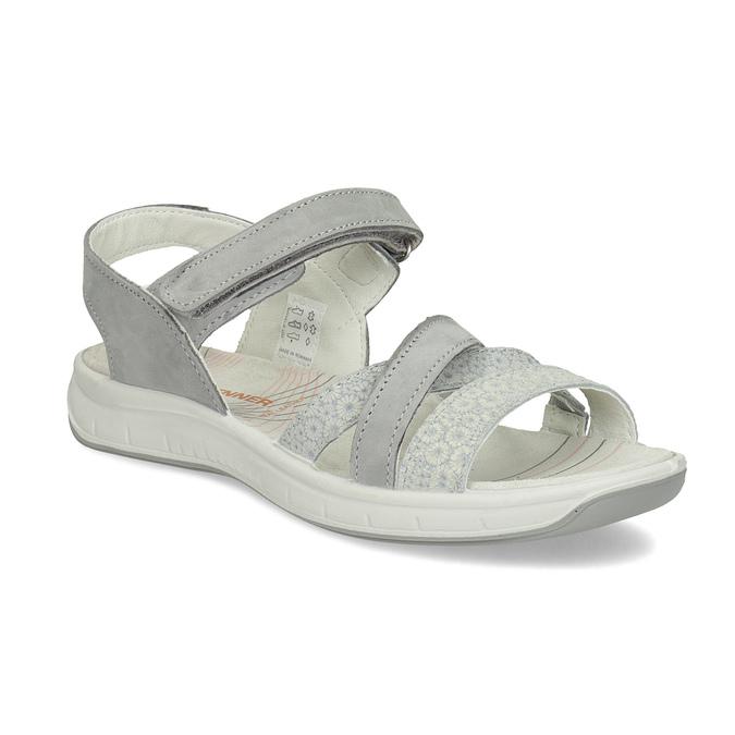 16177b1fb7 Weinbrenner Kožené sandály v Outdoor stylu šedé - Všechny boty