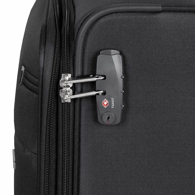 Černý kufr na kolečkách textilní samsonite, černá, 960-6041 - 15