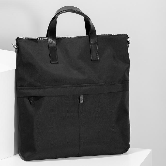 Černá kabelka s krátkými uchy vagabond, černá, 969-6081 - 17