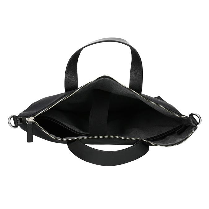 Černá kabelka s krátkými uchy vagabond, černá, 969-6081 - 15