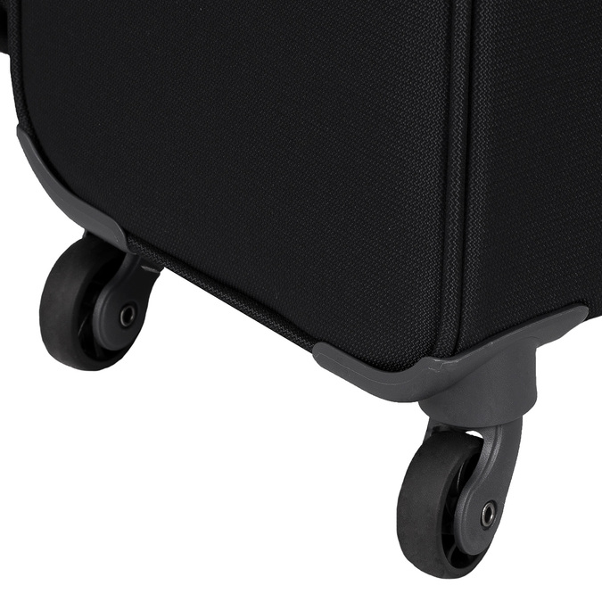 Černý kufr na kolečkách textilní samsonite, černá, 960-6041 - 16