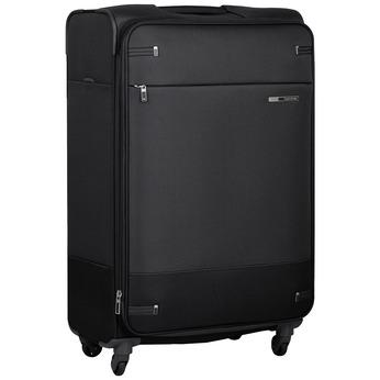 Černý kufr na kolečkách textilní samsonite, černá, 960-6041 - 13