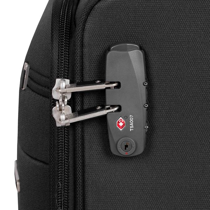 Menší cestovní kufr černý samsonite, černá, 969-6617 - 15