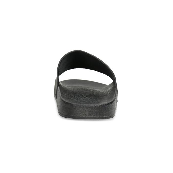 Jednoduché černé pánské nazouváky bata, černá, 861-6602 - 15