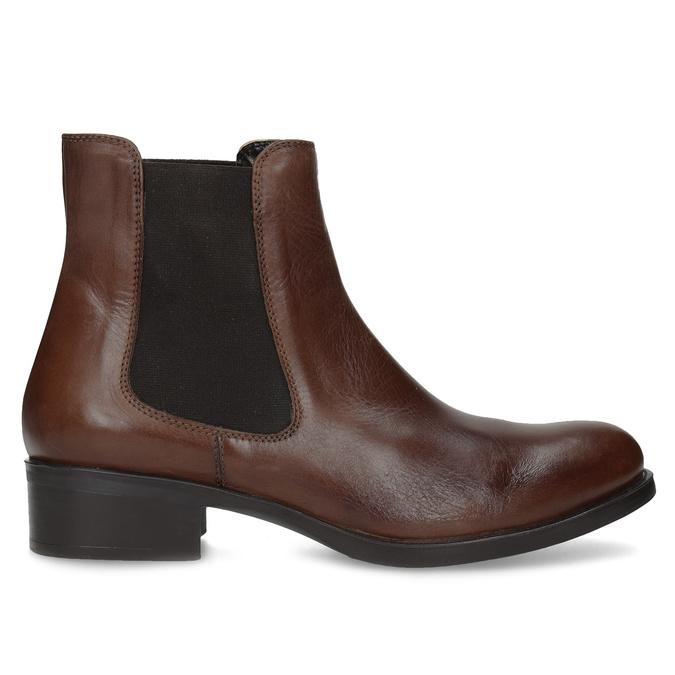 Kožená Chelsea obuv bata, hnědá, 594-4448 - 19