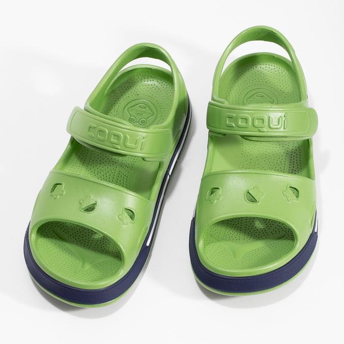Dětské zelené sandály chlapecké coqui, zelená, 372-7658 - 16