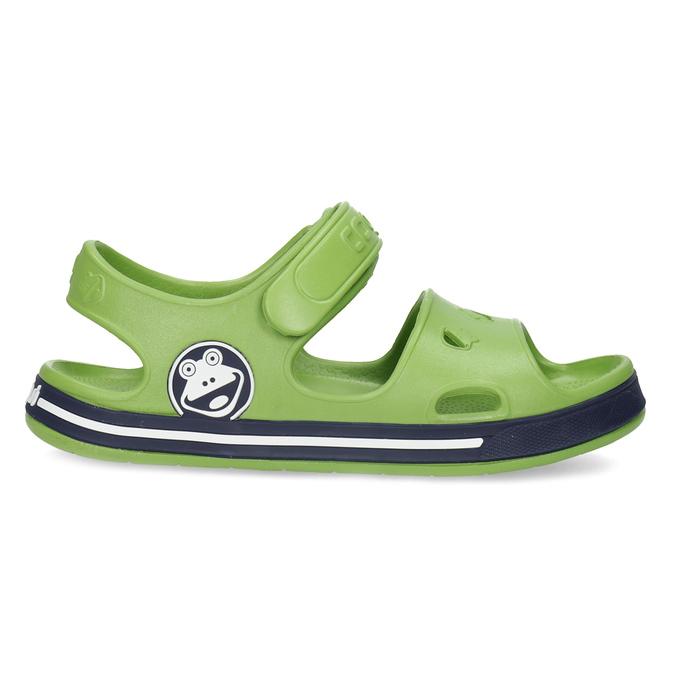 Dětské zelené sandály chlapecké coqui, zelená, 372-7658 - 19