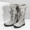 Zimní sněhule s kožíškem bata, šedá, 599-8618 - 16