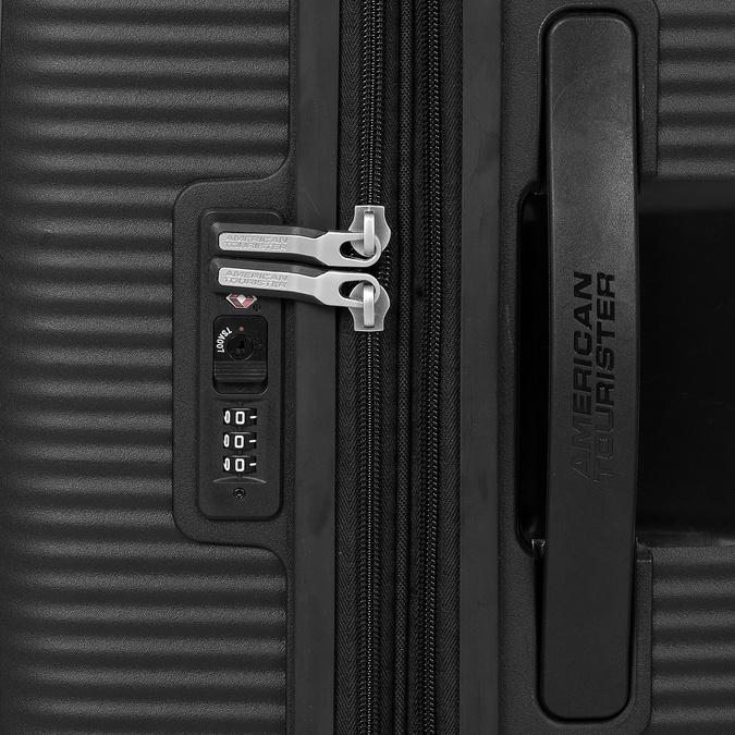 Černý skořepinový kufr na kolečkách american-tourister, černá, 960-6614 - 15