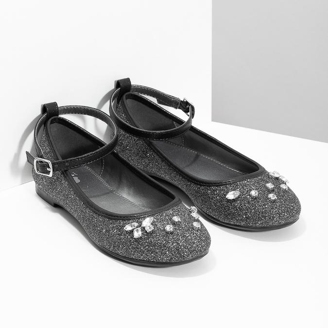 Dívčí baleríny se třpytkami mini-b, stříbrná, 329-6294 - 26