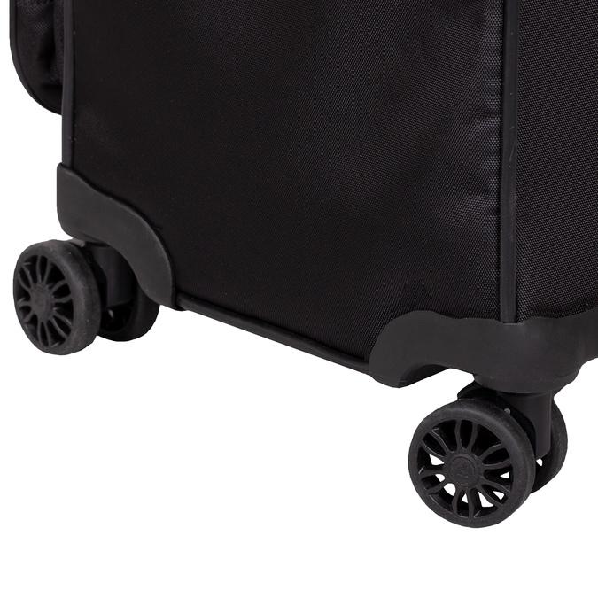 Středně velký textilní kufr na kolečkách roncato, černá, 969-6710 - 16
