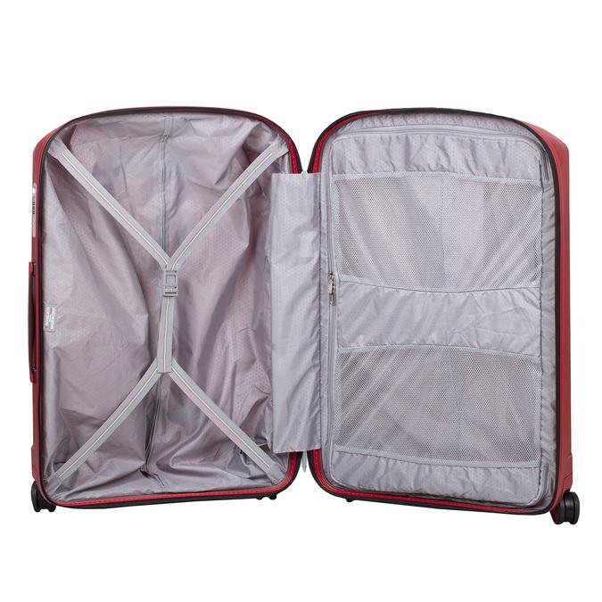 Červený skořepinový kufr na kolečkách velký roncato, červená, 960-5736 - 17