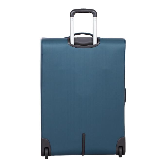 Velký tyrkysový textilní kufr na kolečkách roncato, modrá, 969-9719 - 26
