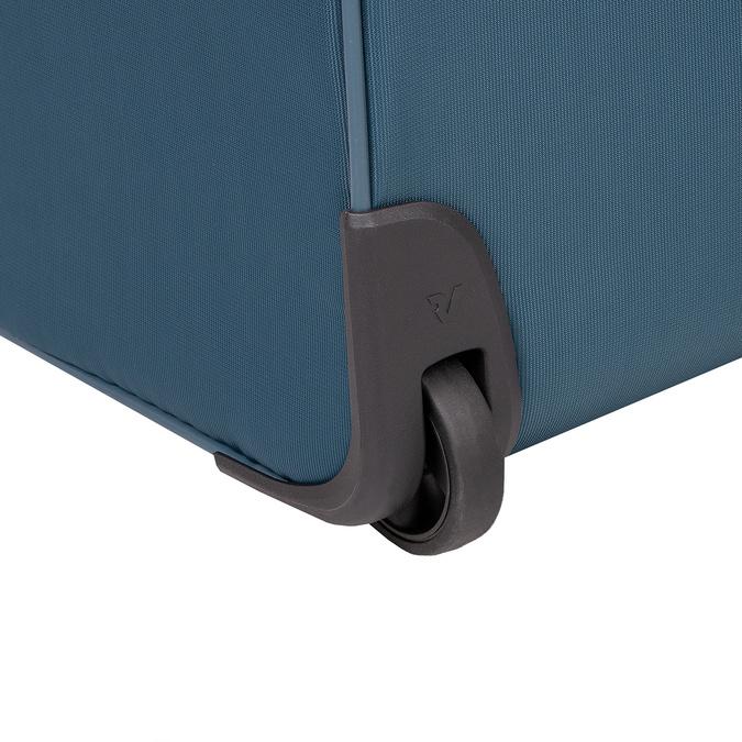 Velký tyrkysový textilní kufr na kolečkách roncato, modrá, 969-9719 - 16