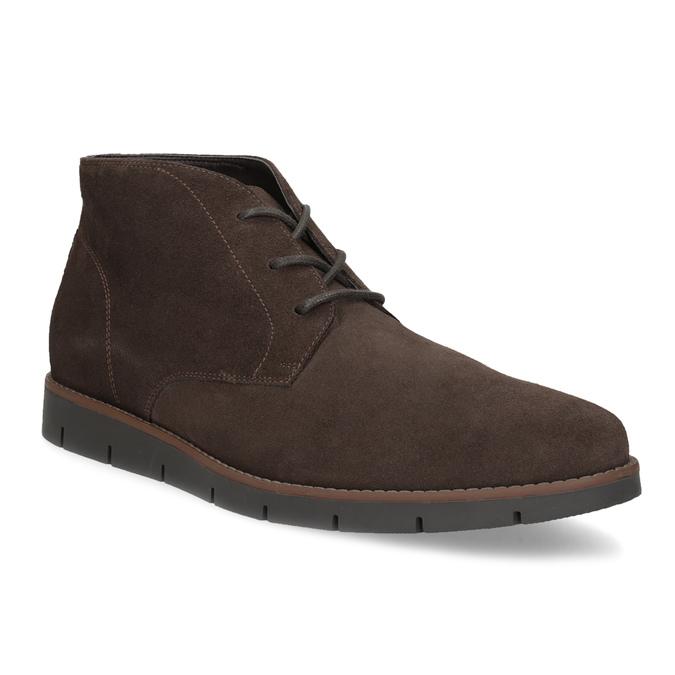 Pánská kotníčková kožená obuv hnědá flexible, hnědá, 823-4632 - 13