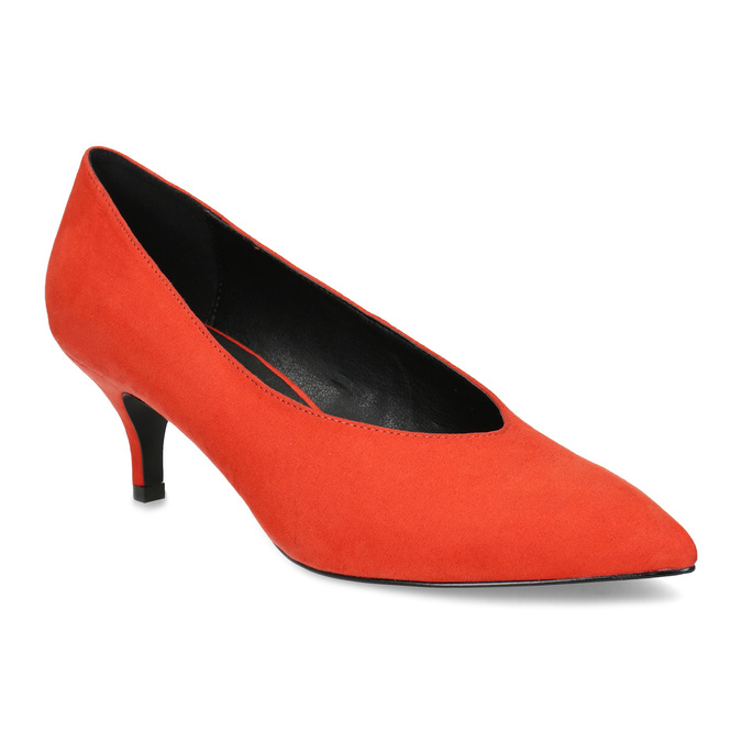 70d0f1d6f3a Insolia Červené lodičky na nízkém podpatku - Všechny boty