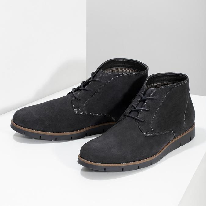 Pánská kotníčková kožená obuv modrá flexible, modrá, 823-2632 - 16