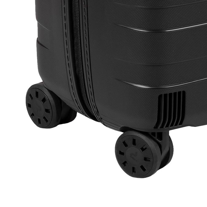 Malý skořepinový kufr na kolečkách roncato, černá, 960-9728 - 16