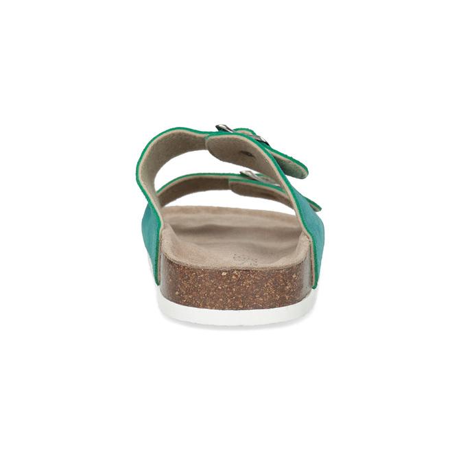Tyrkysové kožené dámské nazouváky de-fonseca, tyrkysová, 573-9621 - 15
