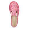 Růžové dívčí přezůvky se vzorem bata, růžová, 179-5213 - 17