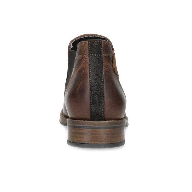 Pánské Chelsea kožené hnědé bata, hnědá, 826-4502 - 15