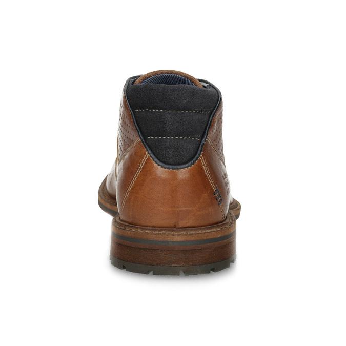 Kotníčková kožená obuv pánská hnědá bata, hnědá, 826-3505 - 15
