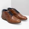 Kotníčková kožená obuv pánská hnědá bata, hnědá, 826-3505 - 26