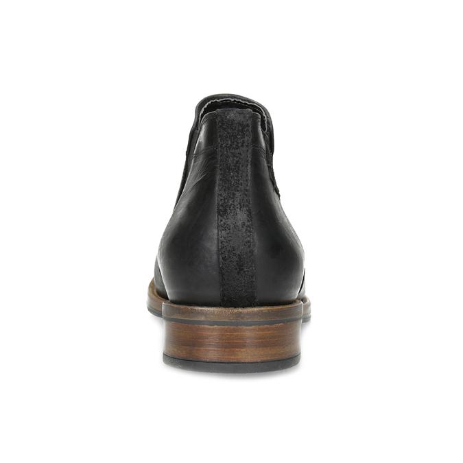 Pánské Chelsea kožené černé bata, černá, 826-6504 - 15
