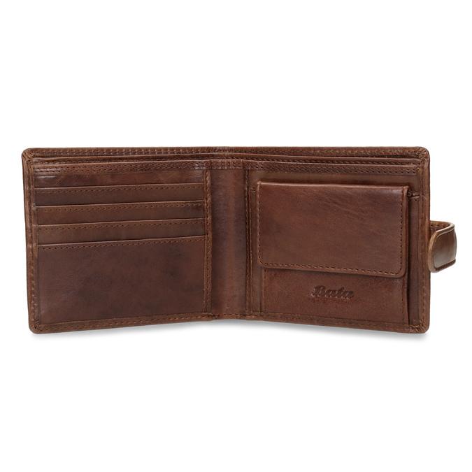 Pánská kožená peněženka hnědá bata, hnědá, 944-3202 - 15