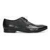 Černé kožené polobotky v Derby střihu bata, černá, 824-6606 - 19